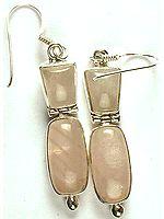 Rose Quartz Hinged Earrings