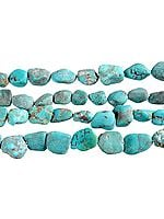Unpolished Turquoise Plain Nuggets