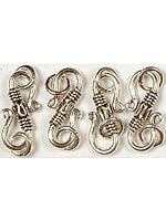 Sterling S Clasp with Filigree & Jump Rings