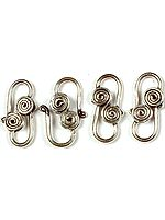 Sterling S Clasp with Spirals