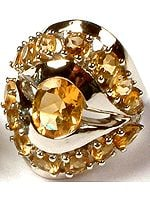 Superfine Cut Citrine Ring