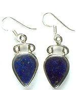 Tear Drop Lapis Lazuli Earrings