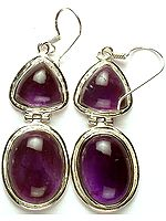 Twin Amethyst Earrings