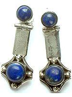 Twin Lapis Lazuli Earrings