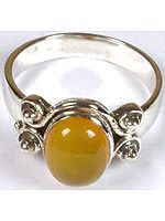 Yellow Chalcedony Ring