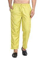Casual Khadi Cotton Silk Pajama from ISCKON Vrindavan by BLISS