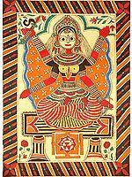 Mahavidya Bhuvaneshvari with Yantra