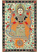 Mahavidya Tripura Sundari with Her Yantra