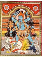 Mother Goddess Kali (Scroll Painting)