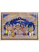 Super Fine Painting of Coronation of Lord Rama