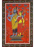 Shiva Parvati Blessing Their Devotees
