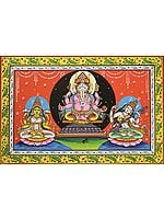 The Great Triad of Ganesha Lakshmi and Saraswati