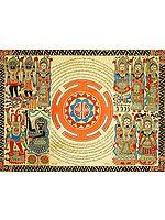 The Shri Yantra with Ten Mahavidyas