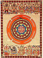 The Ten Mahavidyas with Serpent Coiled Shri Yantra