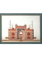 The Gateway of Akbar's Tomb at Sikandra