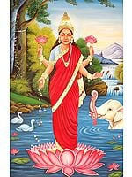 Goddess Lakshmi with Auspicious Elephant
