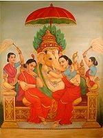 Ganesha with Siddhi & Buddhi