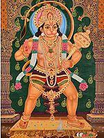 A Fine Painting of Veer Hanuman