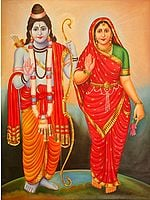 Blessing Goddess Sita and Lord Rama