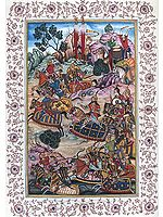 Battle with the Hazars (From the Baburnama)