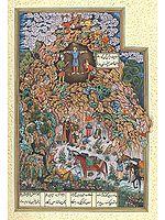Zahhak Punished: A Folio from the Shah-Nama