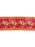 Fabric Border with Digital-Printed Radha Krishna