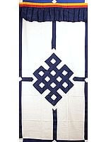 The Endless Knot (Ashtamangala) - Tibetan Buddhist Altar Curtain