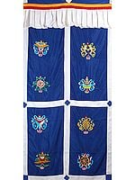 Ashtamangala Altar Curtain