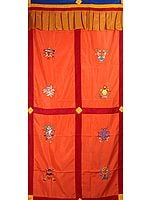 Ashtamangala Tibetan Altar Curtain