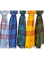 Lot of Five Sanatan Dharma Prayer Scarves
