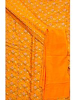 Amber Banarasi Suit with All-Over Floral Weave
