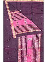 Purple Chanderi Suit with Large Bootis