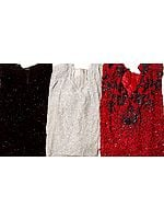 Lot of Three Densely Beaded See-Through Tops from Bareilly