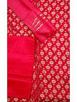 Magenta Banarasi Suit with All-Over Brocade Weave