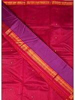 Purple Chanderi Suit with Golden Bootis