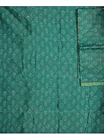Sea-Green Chanderi Suit with All-Over Printed Flowers