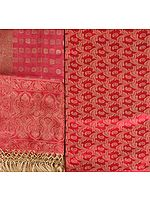 Banarasi Kora Salwar Kameez Fabric with Woven Paisleys