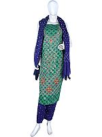 Bandhani Salwar Kameez Fabric from Gujarat with Embroidery and Mirrors