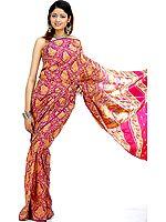 Violet Radha Krishna Sari from Banaras
