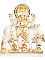 Trimukhi And Shashabhujadhari Lord Dattatreya