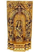 FLUITING KRISHNA WITH MUSICIANS ON ALMOND-SHAPED AUREOLE