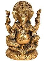 Four-Armed Ganesha Seated in Royal Ease Posture