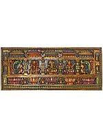 Large Size Panel of Lakshmi Ganesha and Saraswati