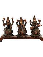 Three Auspicious Deities - Lakshmi Ganesha Saraswati