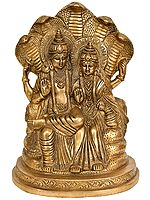 Lakshmi-Vishnu Seated on Sheshnag