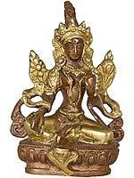 The Compassionate Devi Green Tara