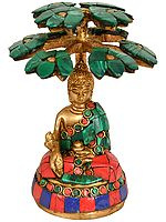 Tibetan Buddhist Deity - The Medicine Buddha Under the Tree