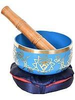Tibetan Buddhist Singing Bowl with Auspicious Symbols