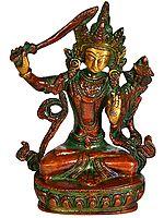Tibetan Buddhist Deity Manjushri, Wielding The Characteristic Sword
