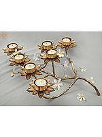 Designer Flower Candle Holder